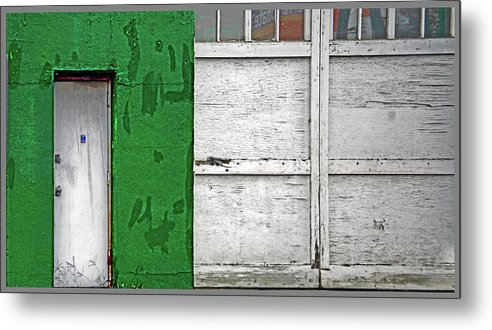 Color Metal Print featuring the photograph Green And White by Guy Ciarcia