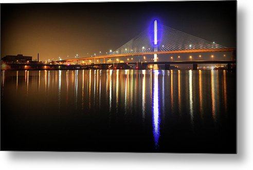 Bridge Metal Print featuring the photograph I 280 Light Saber by Brian Sims