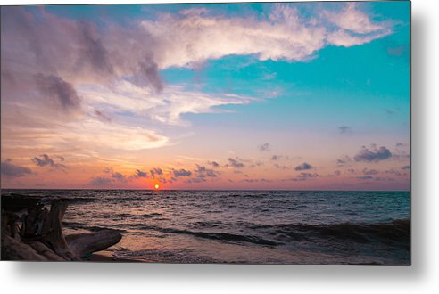 Sunset Metal Print featuring the photograph Lake Erie Sunset by Steven R Breininger