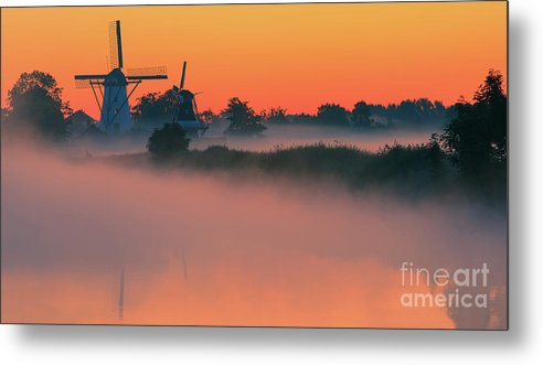Bovenrijge Metal Print featuring the photograph Morning Has Broken by Henk Meijer Photography