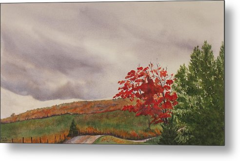 Dark Metal Print featuring the painting October Wind by Debbie Homewood