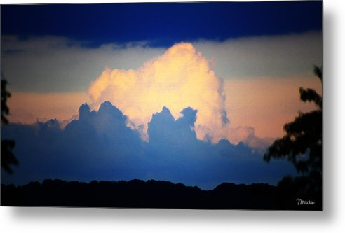 West Metal Print featuring the digital art Storm Approaching Painting by Teresa Mucha