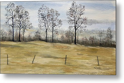 France Metal Print featuring the painting The French Countryside by Mary Tuomi
