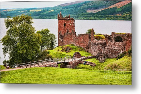 Landscape Metal Print featuring the photograph Urquhart Castle Scotland by Chuck Kuhn