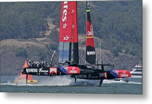 America's Cup Metal Print featuring the photograph America's Cup San Francisco by Steven Lapkin