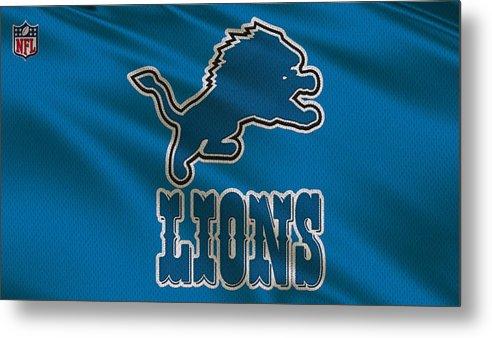 Lions Metal Print featuring the photograph Detroit Lions Uniform by Joe Hamilton