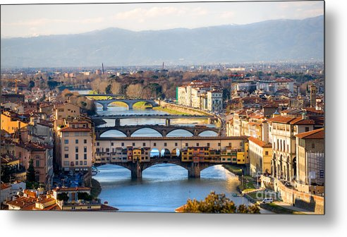 Arch Metal Print featuring the photograph Florence by Luciano Mortula