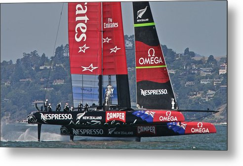 San Francisco Metal Print featuring the photograph America's Cup San Francisco by Steven Lapkin