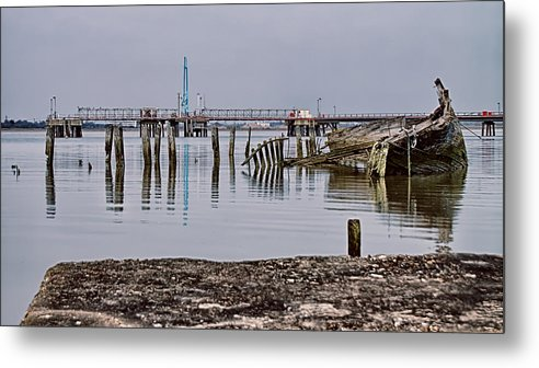 Wreck Metal Print featuring the photograph Another Old Wreck by Nigel Jones