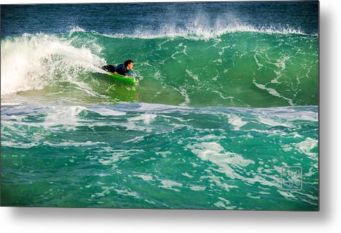 Australia Metal Print featuring the photograph Body Boarder by San Luu