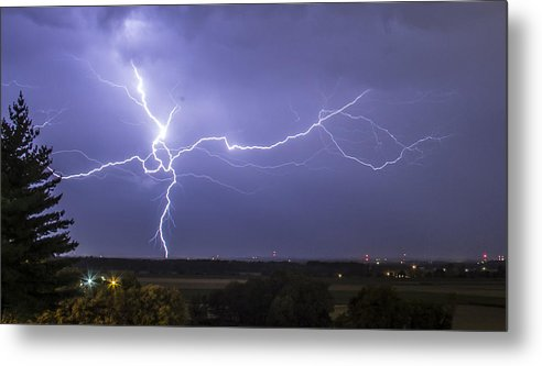 Lightning Metal Print featuring the photograph Branching by Jake Thompson