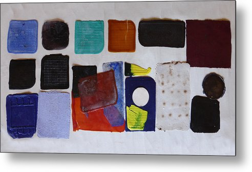 Abstract Metal Print featuring the relief Cast Abstraction 1 by Mark Fearn