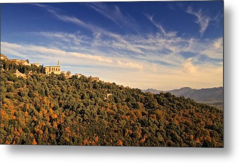 Ancient Metal Print featuring the photograph Church At Santo Pietra Di Tenda In Corsica by Jon Ingall