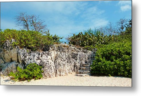 Color Metal Print featuring the photograph Cliff Stairs 2 by Amar Sheow