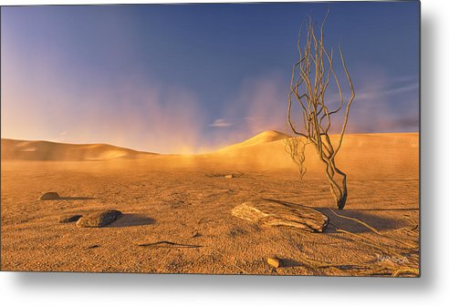 Desert Metal Print featuring the digital art Dead Lands by Marina Likholat