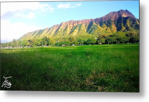 Park Metal Print featuring the photograph Diamond Head Seeing At The Park by Tsieu Phang