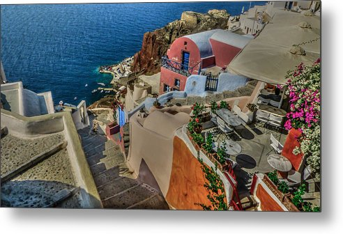 Mediterranean Metal Print featuring the photograph Down To The Beach by Capt Gerry Hare