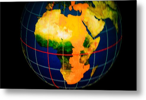 Places Metal Print featuring the photograph Globe by Tinjoe Mbugus