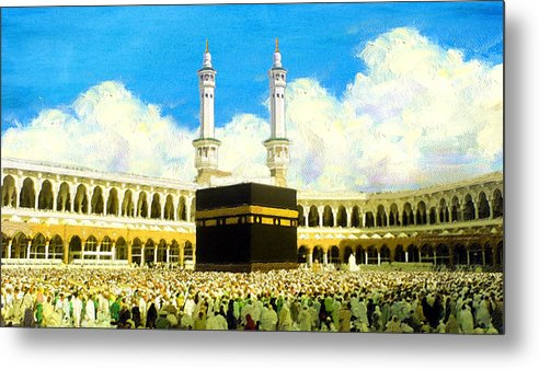 Islamic Metal Print featuring the painting Islamic Painting 006 by Catf