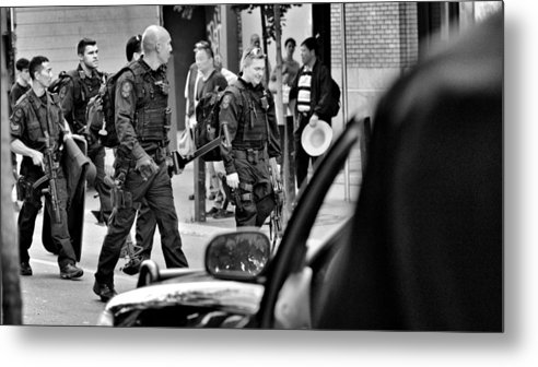 Police Tactical Force Metal Print featuring the photograph Job Well Done Life Saved by Douglas Pike