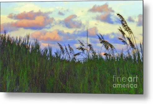 Sand Dune Metal Print featuring the photograph Just Over The Dune by Lydia Holly