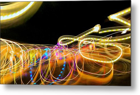 Abstract Metal Print featuring the photograph Loopy by Michele Stoehr