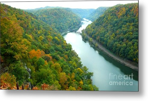 West Virginia Metal Print featuring the photograph New River Gorge Viewed From Hawks Nest State Park by Thomas R Fletcher