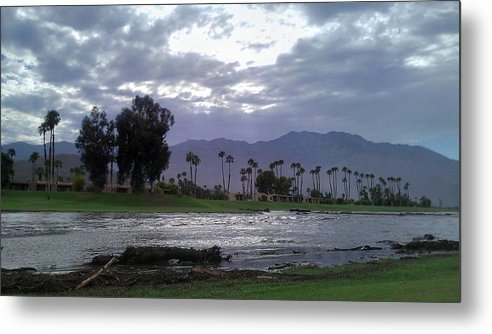 Palm Springs Metal Print featuring the photograph Palms Springs Flood by Chris Tarpening