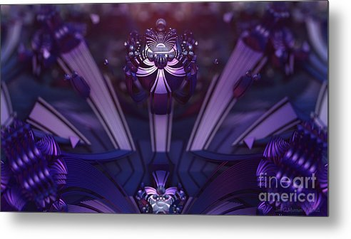 Fractal Metal Print featuring the digital art Point Of Ascension by Jon Munson II