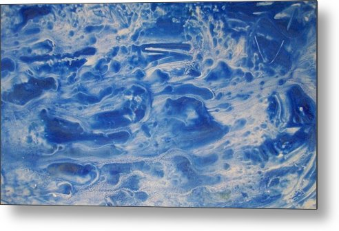Pond Metal Print featuring the painting Pool Party by Sharon Ackley