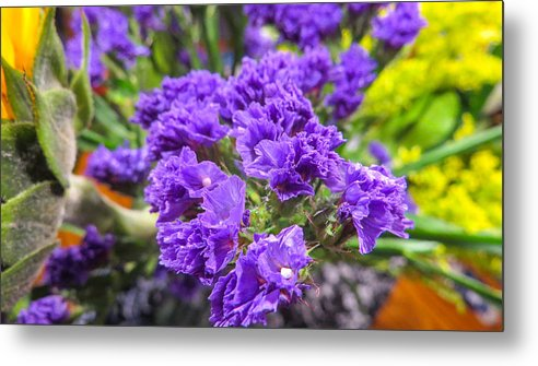 Purple statice flower arrangement metal print by jg thompson arrangement metal print featuring the photograph purple statice flower arrangement by jg thompson mightylinksfo