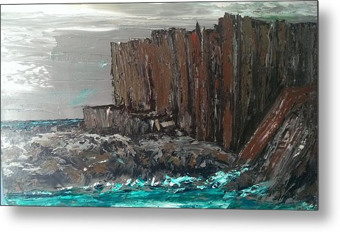 Landscape Metal Print featuring the painting Red Rock by Dc Dorey