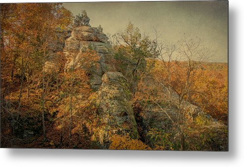 Shawnee National Forest Metal Print featuring the photograph Rock Formation by Sandy Keeton
