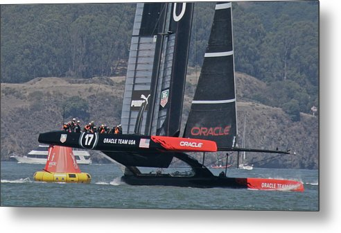 Oracle Metal Print featuring the photograph San Francisco America's Cup by Steven Lapkin