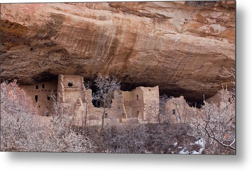 Mesa Metal Print featuring the photograph Spruce Tree Cliff Dwelling by Claus Siebenhaar