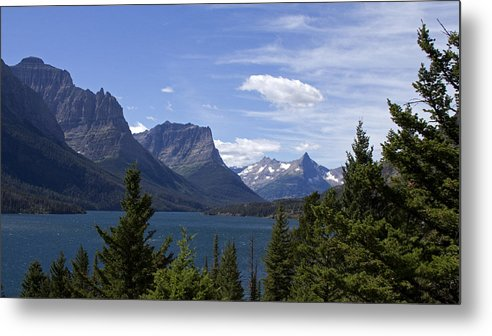 Glacier National Park Metal Print featuring the photograph St Mary Lake Vista by Eric Mace