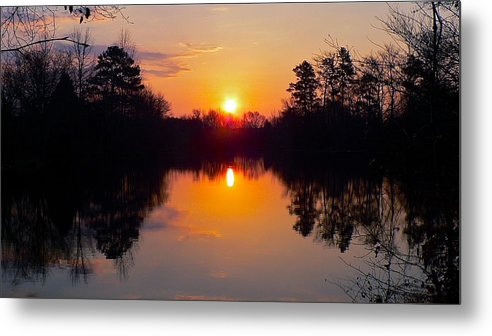 Sunrise Metal Print featuring the photograph Sunrise On The Pond by Jean Wright