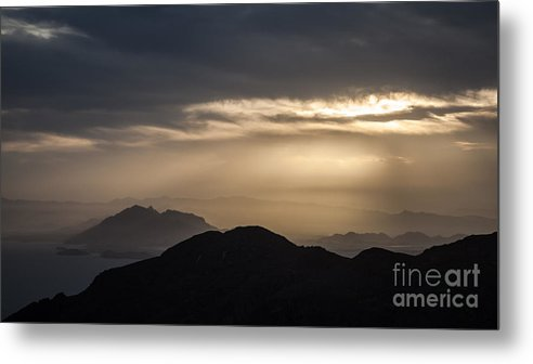 Metal Print featuring the photograph Sunset In The Mountain by Eugenio Moya