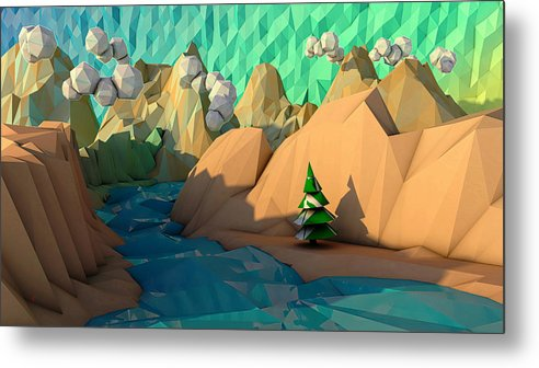 C4d Metal Print featuring the digital art That Perfect Tree by Adam Vance