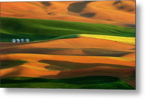 Palouse Metal Print featuring the photograph The Colorful Land by Phillip Chang
