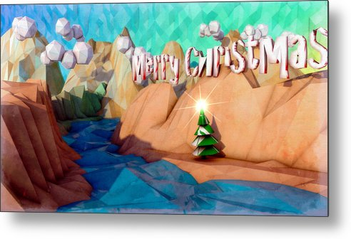 C4d Metal Print featuring the digital art The Perfect Christmas Tree by Adam Vance