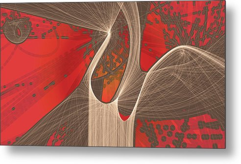 Modern Metal Print featuring the digital art V Day Particle by Jason White