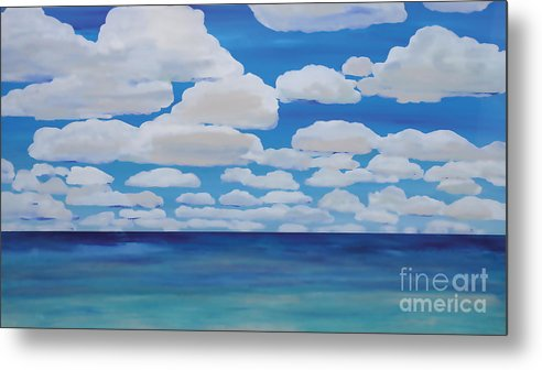Sky Metal Print featuring the painting Weightless by Shelley Myers