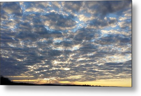 Sunset Metal Print featuring the photograph When Heaven Meets The Earth by Bradford j Cole