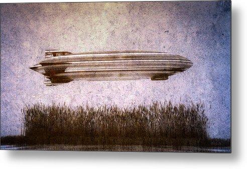 Zeppelin Metal Print featuring the digital art Zeppelin by Bob Orsillo