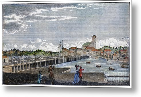1786 Metal Print featuring the photograph Boston: Charles River, 1789 by Granger