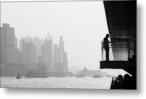 Cityscape Metal Print featuring the photograph Bw City by Kam Chuen Dung
