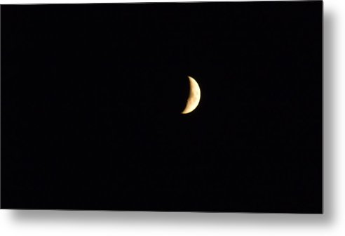Crescent Moon Metal Print featuring the photograph Crescent Moon by Jessica Cruz