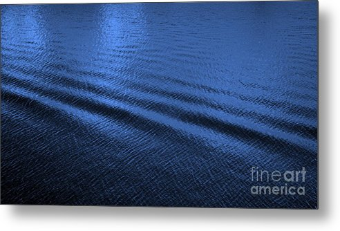 Blue Metal Print featuring the photograph Deep Blue Sea by Carol Groenen