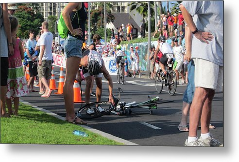 Ironman Metal Print featuring the photograph Flat Tire by Charles Jennison